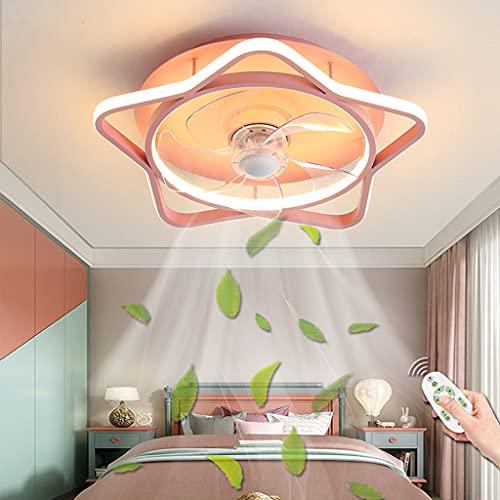 Ventilador De Techo LED Con Luz De Techo Con Control Remoto Regulable, Iluminación De Ventilador, Lámpara De Techo De Estrella Comedor Dormitorio Habitación Para Niños Lámparas De Ventilador (45CM)