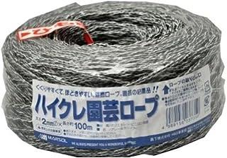 マルソル(MARSOL) ハイクレ園芸ロープ 2MMX100M グレー+白