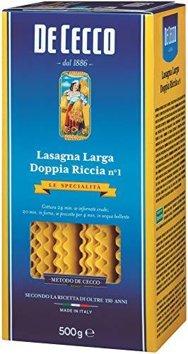 5x Pasta De Cecco 100% Italienisch Lasagna larga Doppia riccia n 1 Nudeln 500g