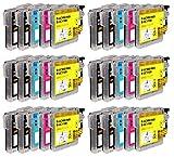 Amaprint 30 XL Cartuchos Compatible con Brother LC1100 para DCP-145c DCP-195c DCP-165c MFC-250c MFC-490cw MFC-5490cn MFC-5890cn MFC-6490cw MFC-255cw MFC-290c MFC-295cn MFC-297c