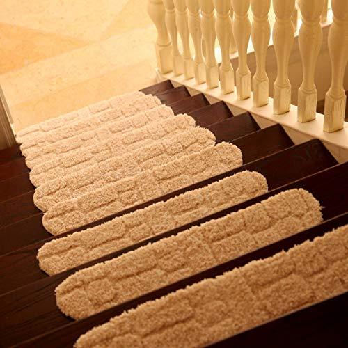 Eastery Innen Treppen Pad Flauschige Matte rutschfest Abriebfest Schlafzimmer Saugfähig Mehrfarben Einfacher Stil 70 * 24Cm EIN Paket 1,Green 70 * 24Cm (Color : Weiß, Size : 70 * 24Cm)