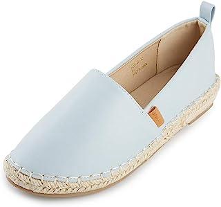 Alexis Leroy Women's Closed Toe Slip On Espadrilles Loafer Flat