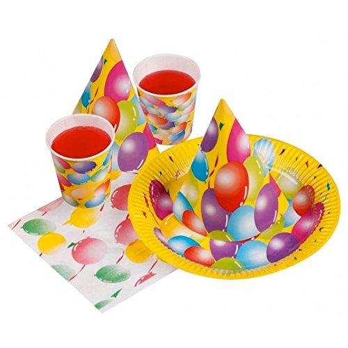 Party Set LUFTBALLON Kindergeburtstag 24 tlg ,Pappteller