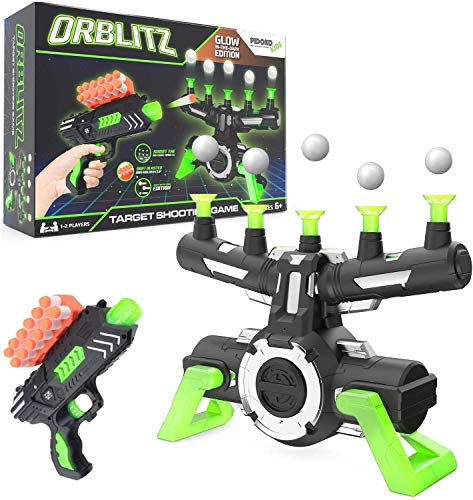Pidoko Kids Hover Shot - Orblitz Floating Ball Shooting Game - Compatible with Nerf - Glow in the Dark Target Practice with Foam Dart Blaster - Cool Toys for Boys 6 7 8 9 10 11