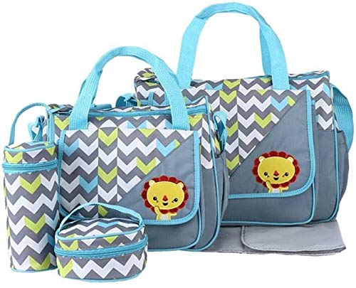 The Baby Co. Diaper Bag Backpack Baby Bag Multifunction Maternity Travel Changing Pack – Water Resistant Nappy Tote (TBC-HM-2A)