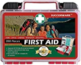 SuccorWare First Aid Kit (236-Piece) Hardcase + Bonus 52 Pieces Mini First Aid