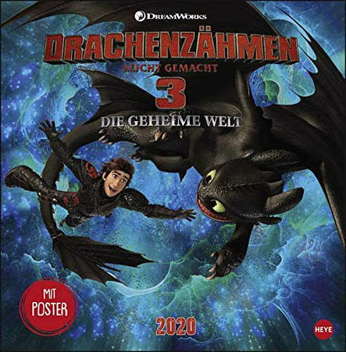 Dragons Broschurkalender. Wandkalender 2020. Monatskalendarium. geheftet. Format 29,5 x 30 cm