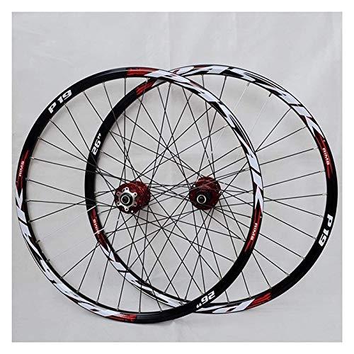 YQQQQ 26 Pulgadas 27.5 29ER Juego de Ruedas de Bicicleta de Montaña Aleación de Aluminio MTB Ruedas de Ciclismo Disco (Size : 29 Inch)