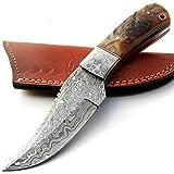 cuchillos de cocina de acero Damasco – 4.4 pulgadas aproximadamente de acero Damasco cuchillo de chef – el mejor cuchillo de cocina hecho a mano de Damasco con vaina, comprar con confianza 9396