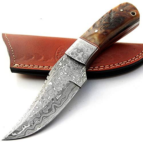 cuchillos de cocina de acero Damasco – 4.4 pulgadas aproximadamente de acero...