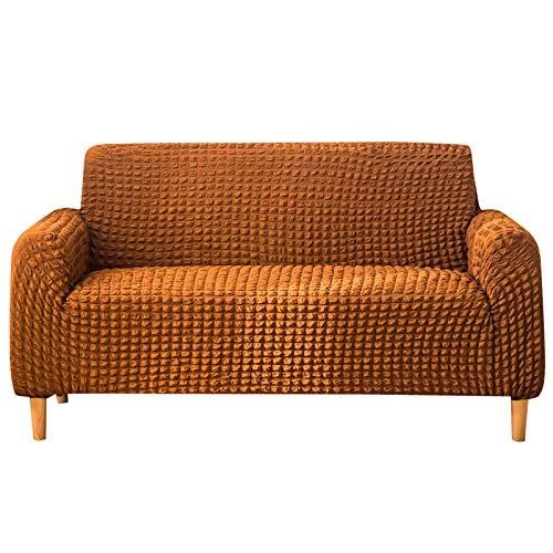 QSCV Strecke Universal Sofabezug,Land Stil Loveseat Cover,rutschfest Stoff Sofahusse Für Hunde Haustier Möbel Beschützer-Orange Chair 90~140cm(35~55inch)