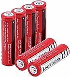 6 pcs Batería de Litio BRC 18650 de Litio 3.7V 3000 MAH Recargable Li Ion Lithium batería para el Banco de energía,18x65mm