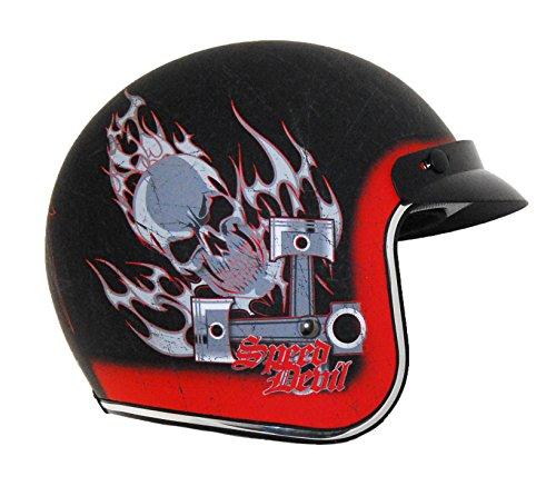 Vega Vintage Motorcycle Helmet for Men & Women, Classic Retro Open Face Design Lightweight DOT Certified for Motorbike Cruiser Moped Scooter ATV
