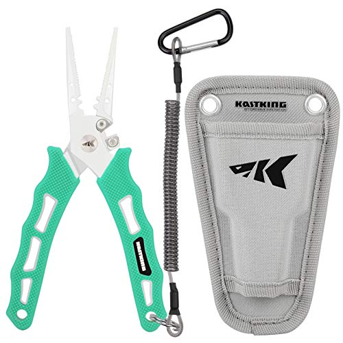 KastKing Cutthroat 7 inch Fishing Pliers, Seafoam Handle, 7 inch Straight Nose
