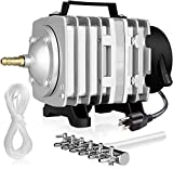 Simple Deluxe LGPUMPAIR65 1030 GPH 35W 65L/min 6 Outlets Air Pump, Silver