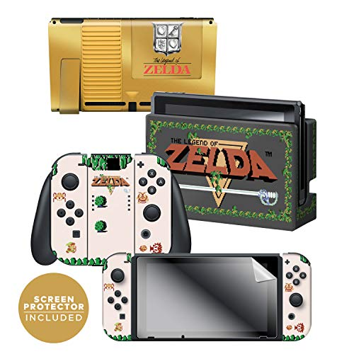 Controller Gear Officially Licensed Nintendo Switch Skin & Screen Protector Set - The Legend of Zelda - Gold Cartridge - Nintendo Switch