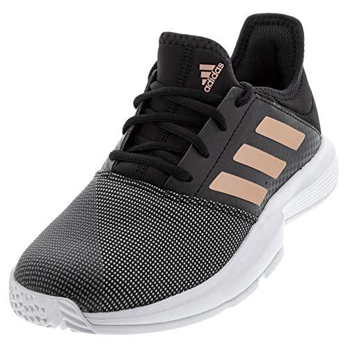 Zapatillas Tenis Adidas Gamecourt para hombre, Negro (Negro, cobre, blanco.), 36.5 EU