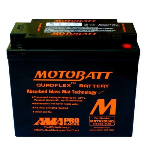 Batería Motobatt 12 V 21 Ah 310 CCA MBTX20UHD para Harley Davidson FXD Dyna Super Glide 1584 2007 2014
