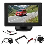 Cámara de visión trasera-4.3in 800x480 TFT LCD Pantalla de escritorio Grabadora Monitor de estacionamiento Cámara de marcha atrás