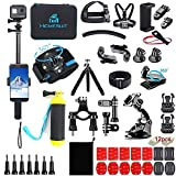 Homesuit Kit de accesorios 60 en 1 para GoPro Hero 9 8 7 6 5 Session 4 3+ 3 2 1 Negro Plata...