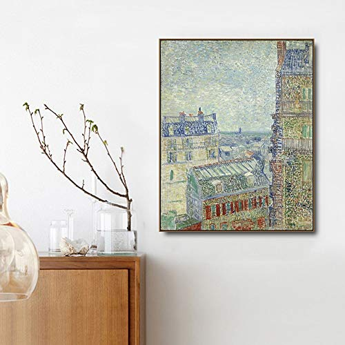 Pintura al leo de Vincent Van Gogh,'Paisaje de apartamento', pintura al leo de Livin, arte de pared, decoracin sin marco, imagen, habitacin, decoracin para el hogar, N81 70x100cm