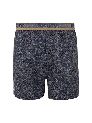 Skiny Herren Boxer Shorts DP Boxershorts, Mehrfarbig (Darknavy Selection 8770), Small (2er Pack)