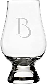 Celtic Etched Monogram Glencairn Crystal Whisky Glass (Letter B)