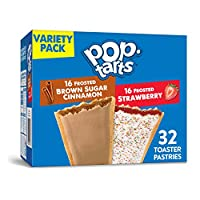 Pop-Tarts, Variety Frosted Strawberry and Frosted Brown Sugar Cinnamon, 32 Count, 57.50 Ounce by Pop-Tarts