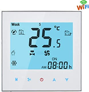 CHUANG TIANG Smart Thermostat Wireless, Thermostat Central Heating Control, Temperature Controller Compatible with Alexa Google Home IFTTT