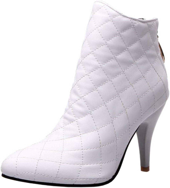 Melady Fashion Pointed Toe Bootie Heels Big Sizes
