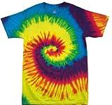 Camiseta de manga corta 123t con diseño de arcoíris realizado mediante la técnica de...