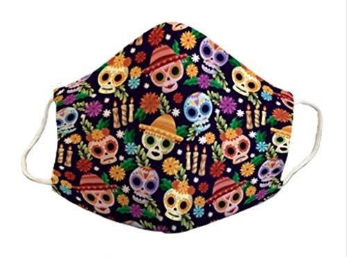 Mascarilla infantil 6-9 años homologada Halloween protectora de 3 capas lavable divertido diseño