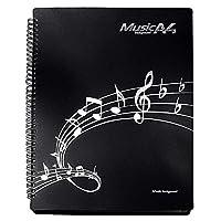 便利 な 楽譜ファイル ファイルに入れたまま 書き込み 出来る リング 式 A4 40枚 収納 (ブラック)