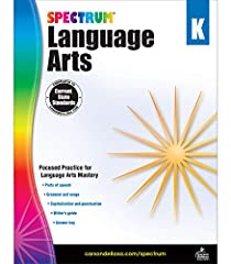 Spectrum Language Arts for Kindergarten includes focused practice for language arts mastery Features parts of speech, grammar and usage, and capitalization and punctuation Includes a writer's guide and answer key 128 pages
