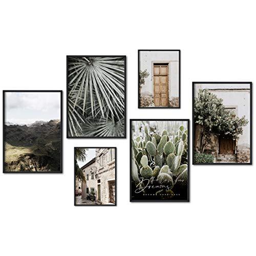 myestado - Premium Poster Set Bilder Wohnzimmer Modern Schlafzimmer Bild für Ihre Wand - ohne Rahmen - 4 x DIN A3 & 2 x DIN A4 Bilder Set - ca. 30x42 & 21x30 » Dreams «