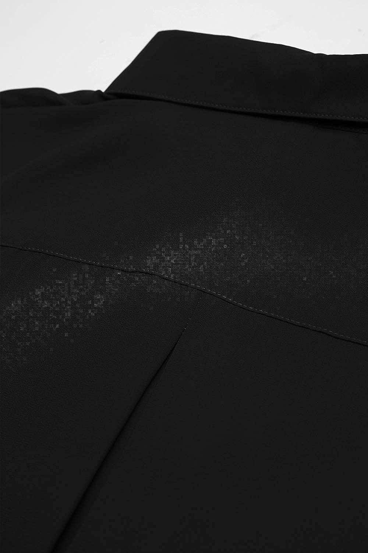 Hiistandd Women's Long Sleeve V Neck Chiffon Blouses Tops Button Down Business Shirts