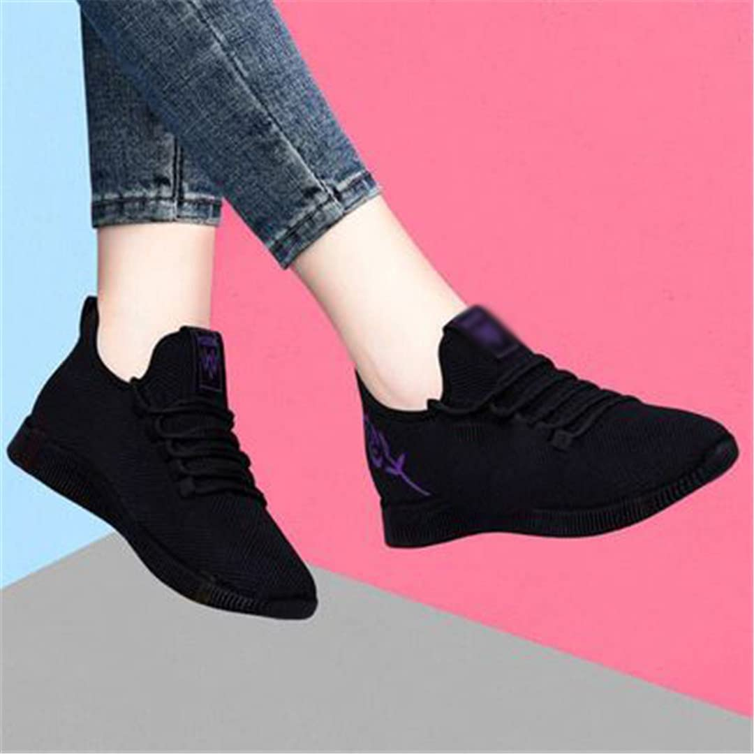 Pokem&Hent Women's Sports Shoes Outdoor Lace-Up Platform Sneakers Mesh Breathable Walking Jogging Shoes