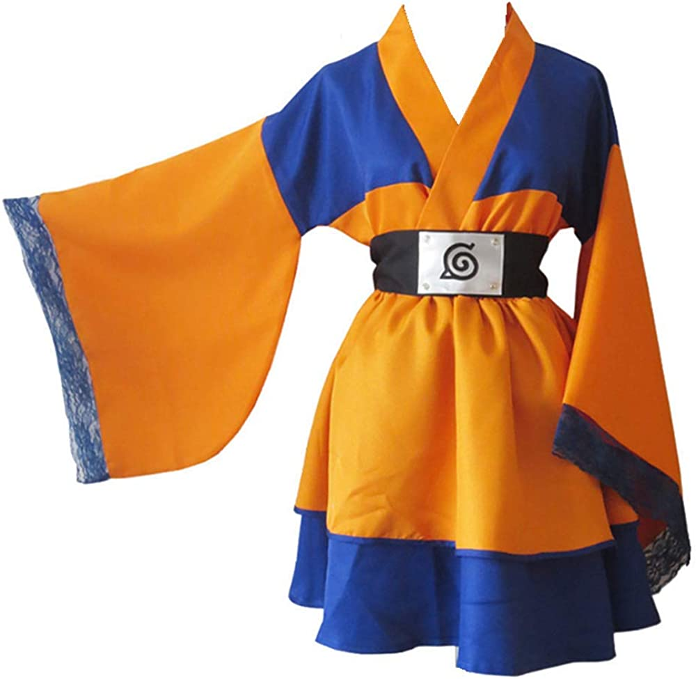 Anime Naruto Cosplay Disfraz de Halloween Lolita Kimono Vestido para Mujeres Hombres Colecci/¨/®n Completa