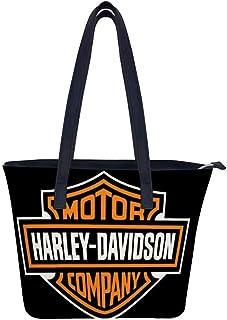 ハーレーダビッドソンユニークな大容量の女性のレザーワークトートショルダーバッグハンドバッグ