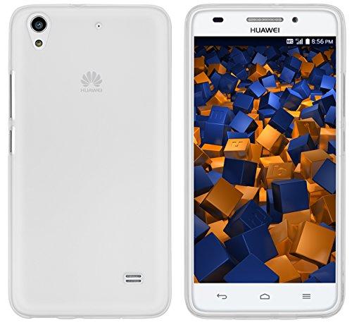 mumbi Hülle kompatibel mit Huawei Ascend G620s Handy Hülle Handyhülle, transparent weiss