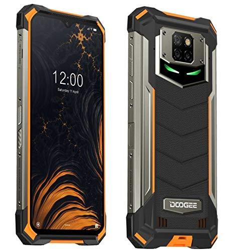 DOOGEE S88 Plus(8GB+128GB) 10000mAh Akku Outdoor Smartphone Ohne Vertrag, 48MP Quad-Kamera, Octa-Core Android 10, 6,3'' FHD+ Corning Gorilla-Glas, Drahtlose Rückladung, IP68 Robustes Handy Orange