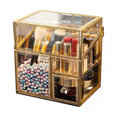 LLSPHYDY Tocador Almacenamiento de brochas de Maquillaje Caja de Almacenamiento de cosméticos...