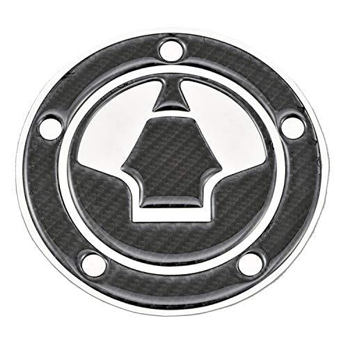 デイトナ バイク用 傷防止シール タンクキャップパッド ポッティングタイプ カワサキ2(ZRX1200 DAEG) カーボン調 97344