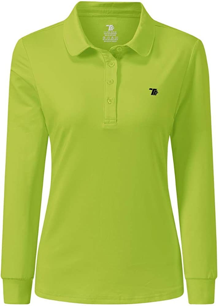 AIRIKE Cheap mail order sales Golf Polo Shirts for Long Max 89% OFF Colourful Sleeve Quick-Dr Women