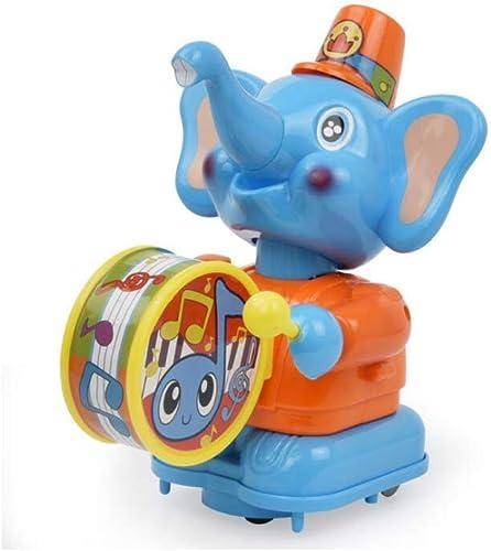 Venta en línea precio bajo descuento KTYXGKL Sonrisas del Tambor Feliz Elefante Caminable Caminable Caminable Música De Dibujos Aniñaños Sonajero Tambores Bebé, 8x14x19cm Juguetes educativos para Niños  marcas de moda