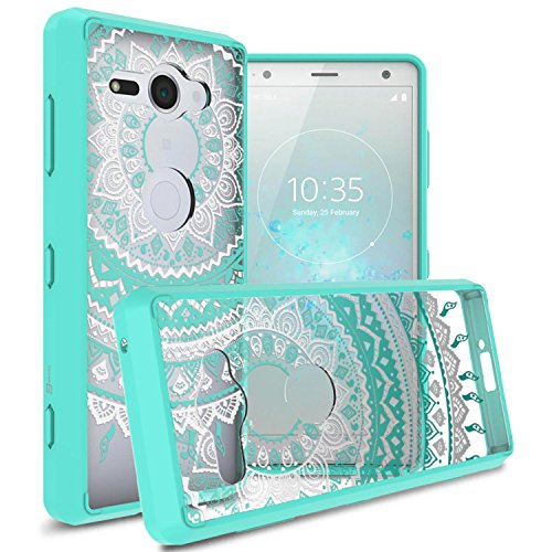 CoverON Hard Slim Fit ClearGuard Series for Sony Xperia XZ2 Compact Case, Teal Mandala Design