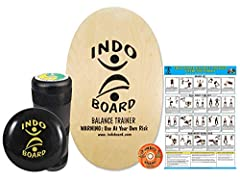 OUR MOST POPULAR DECK >> Simple, Clean, Natural Wood Finish Features Our Iconic INDO BOARD Logo SO VERSATILE THAT IT CAN BE USED BY ANYONE >> Accommodates Every Level Of Rider From Ages 3 To 93. Either The Roller Or The Cushion Can Be Used Under The ...