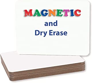 Pack of 24 Plain Magnetic Dry Erase Boards (9x12in)
