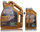 2x 1 L + 5 L = 7 litri Castrol Edge Titanium FST™ 10W-60 olio motore; specifico: ACEA A3/B3, A3/B4; API SN/CF; VW 501 01/505 00; esclusivo BMW MB