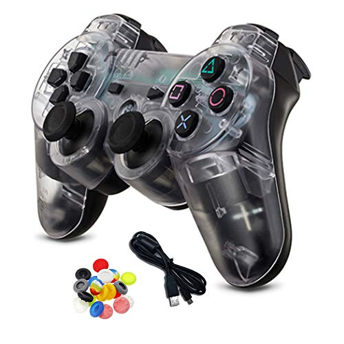 YYKJ for PS3 Controller, USB Bluetooth Vibration Handle, with Six-axis Vibration, Suitable for PC360 /PC /PS3 Game Handle Remote Control Stick A